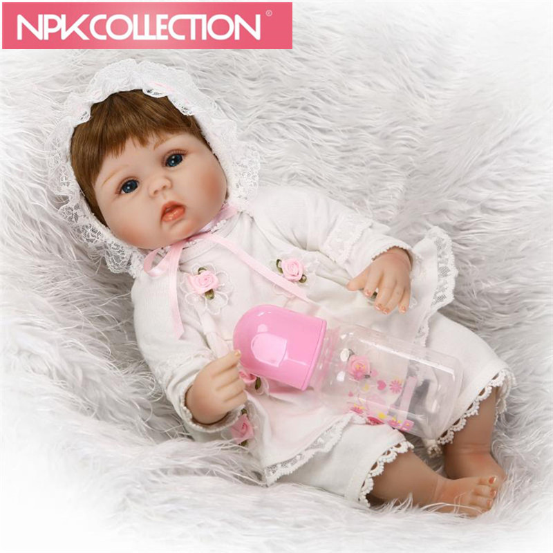 Classical Reborn Baby Dolls Safe Silicone Toys 16'' Suck pacifier Real Like Newborn Baby Dolls Fashion Gifts For KidsD74 N165-6 suck uk