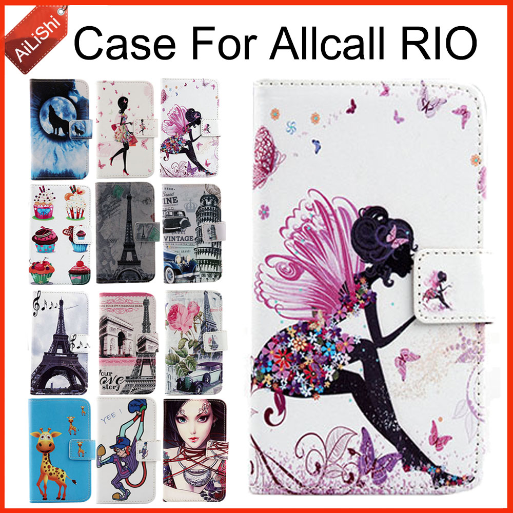 AiLiShi Hot!!!In Stock Cartoon PU Leather Case Book Flip For Allcall RIO Case Exclusive 100% Special Phone Cover Skin+Tracking ...