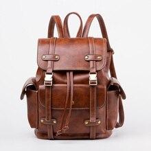 2017 Моды для женщин, модельер бренда рюкзаки винтаж кожа сумка ретро маленькая леди школьный mochila милые bags-22
