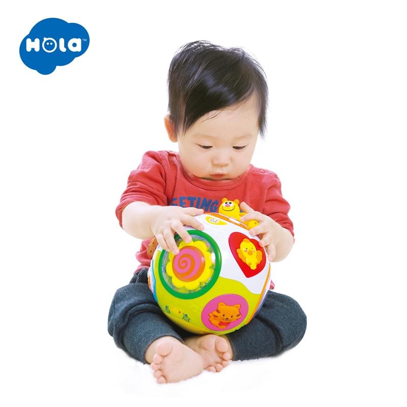 HOLA 938 bébé jouets enfant en bas âge ramper jouet avec musique et lumière enseigner forme/nombre/Animal enfants apprentissage précoce jouet éducatif cadeau