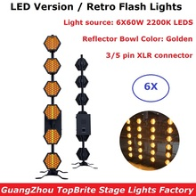 6 Unit LED Stage Wash Effect Lights High Quality 6X60W Retro Flash DMX Transport Dj Disco Lamp Party Backlight