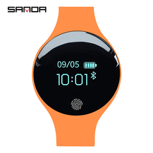 Marka sanda kobiety Sport zegarki wodoodporna kalorii bransoletka z krokomierzem luksusowe pomiar podczas snu GPS inteligentny zegarek dla android ios