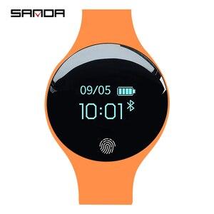 Image 1 - SANDA ยี่ห้อผู้หญิงกีฬานาฬิกากันน้ำแคลอรี่ Pedometer สร้อยข้อมือ Luxury Sleep Monitor GPS สมาร์ทนาฬิกาข้อมือสำหรับ Android IOS
