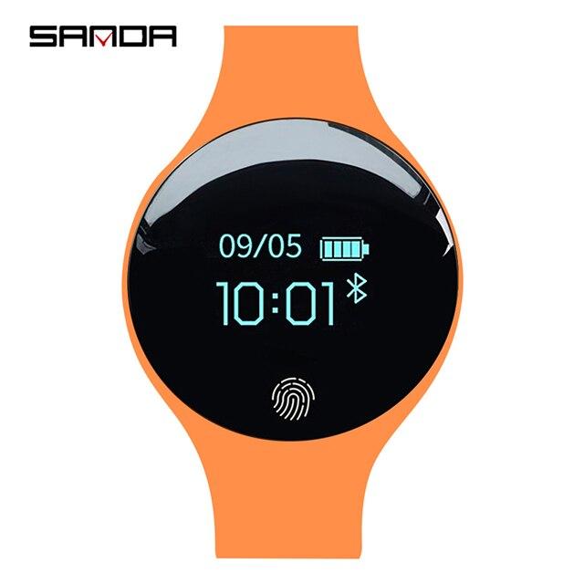 SANDA ยี่ห้อผู้หญิงกีฬานาฬิกากันน้ำแคลอรี่ Pedometer สร้อยข้อมือ Luxury Sleep Monitor GPS สมาร์ทนาฬิกาข้อมือสำหรับ Android IOS
