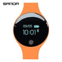 Sanda pulseira de relógio inteligente esportivo, pulseira à prova d água com pedômetro, monitorador de sono, relógio com gps, para android e ios