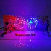 Dragon Ball Z Son Goku VS Evil Vegeta Figuras Dragon Ball Lampara Dragon Ball Super Figurine LED Action Figure Toy
