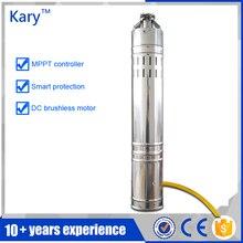 Kary 24 В насос постоянного тока, безщеточный погружные солнечный водяной насос, 40 м глава 9GPM солнечной цилиндра насоса для орошения
