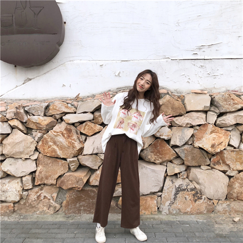 2018 t-shirt Sreetwear Lustige Hip Hop Rauchen Gedruckt Übergroßen Langarm T Shirt Frauen Harajuku Baumwolle Grundlegende CX607