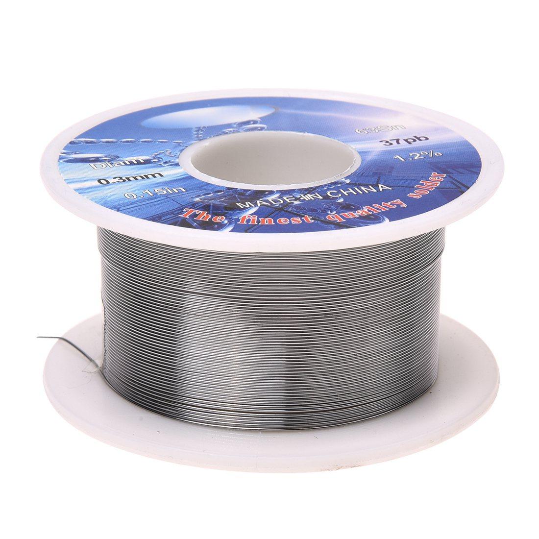 Твердый припой 0,3 мм Диаметр флюса ядро 63% Олово 37% свинцовый длинный провод катушка