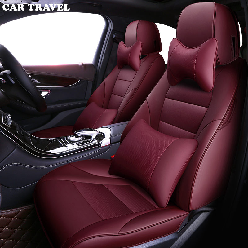 VOITURE VOYAGE Personnalisé housse de siège de voiture en cuir pour Nissan Juke Qashqai X-trail Volvo V40 XC90 XC60 S60 voiture sièges protecteur