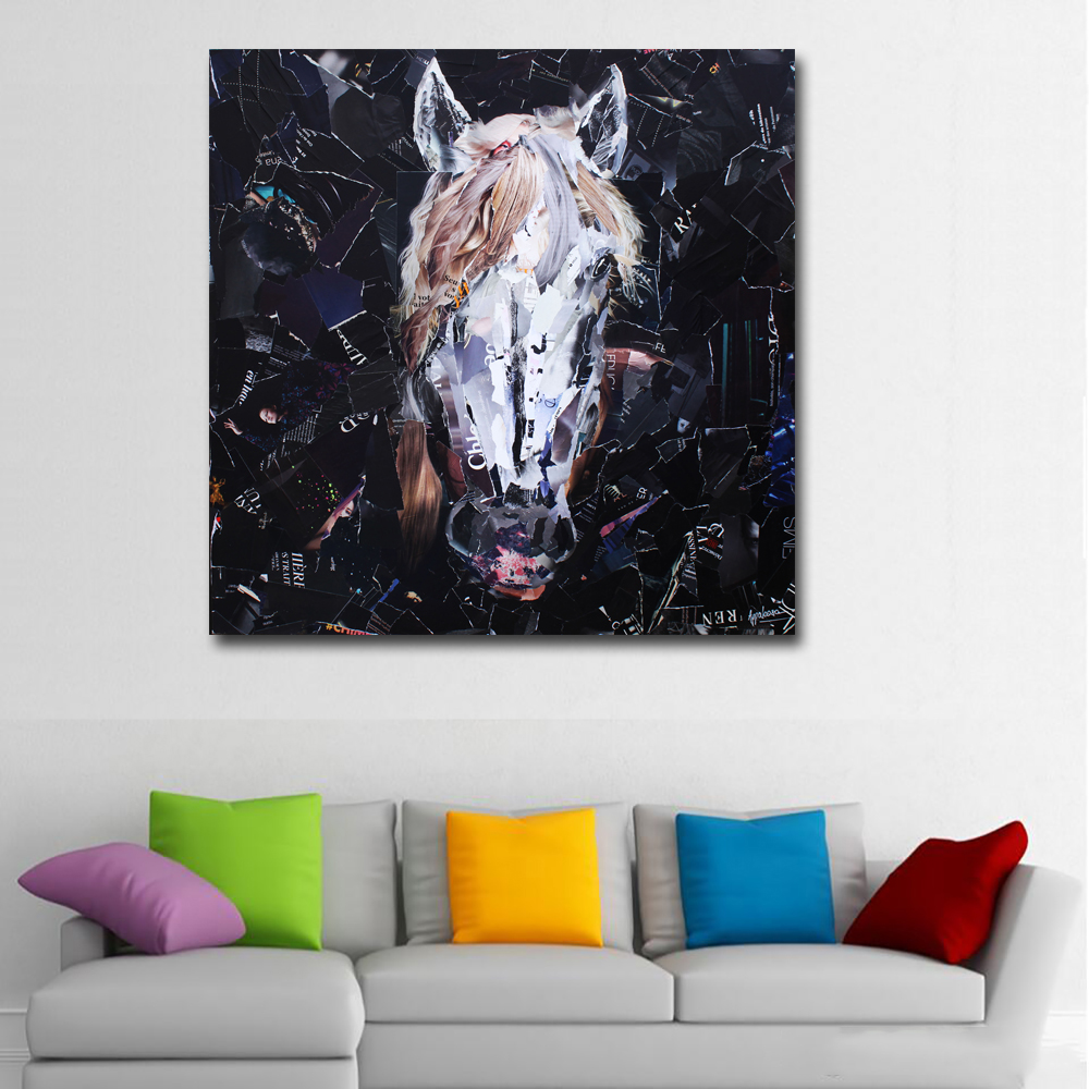 Abstract Art Prints Painting Abstract Horse Head Pictures Wall Art
