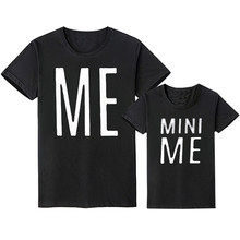 Family Look Matching Clohtes Outfits Father Son Mother Daughter T Shirt Daddy Mommy And Me Mom Mum Baby Clothes MINI ME Dresses(China)