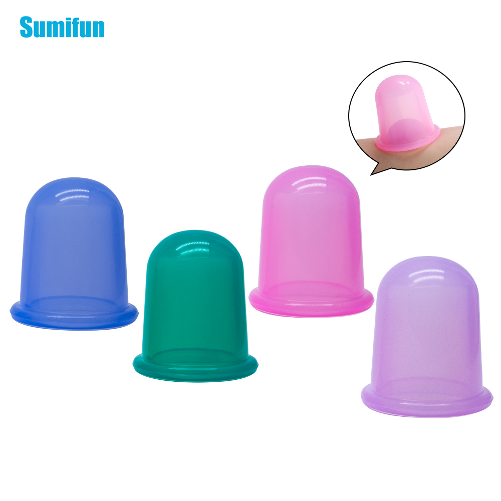 Relaxation Cupping Body Anti Cellulite Massage Therapy Sets Uleecy Silicone Cupping Kit Cups for Facial vacuum cans neck massage beurha 4 in 1 vacuum silicone cupping cups family body massage helper anti cellulite neck face cupping kit relaxation massages