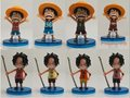8pcs 100% brand new anime character one piece multi style Luffy pvc figure toys tall 7cm set.