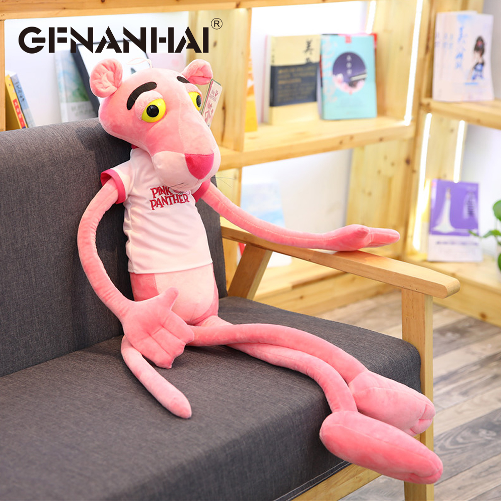 1pc 55cm kawaii pink panther with Clothes plush toy stuffed soft animal dolls high quality children birthday Christmas gift