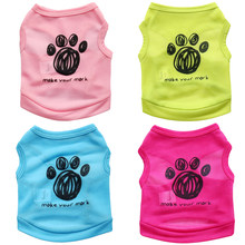 Zomer Hond t-shirt Vest Mode Huisdier Kleding voor Kleine Honden Bulldog Chihuahua Pug Shirts Puppy Kleding Kat Outfits Huisdieren producten(China)