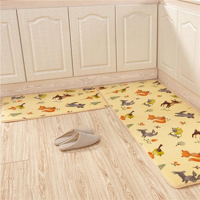 Large Bathroom Mat For Home 2 pcs/set Non-slip Bedmat Waterproof Kitchen Carpet Cheap Toilet Bath Mats Modern Bathroom Carpet