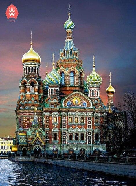 Алмазные вышивки церкви