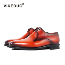 цены Vikeduo 2019 Handmade Fluff Snow Shoe Luxury Wedding Party Lace-up Designer Dress Shoe Male Genuine Leather Mens Derby Shoes