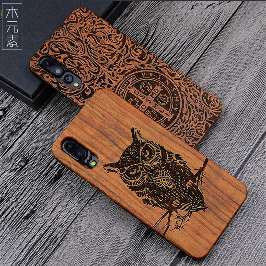 Hard-Protective-Shell-Case Phone-Accessories Pro-Case Lite Wood Huawei P20 Bamboo P20pro