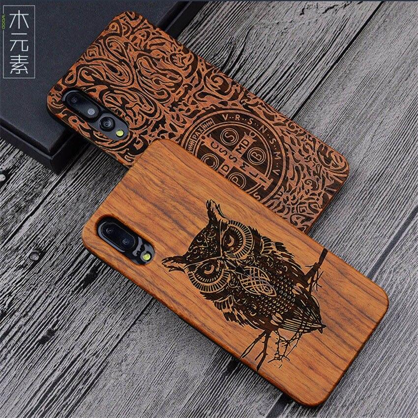 Original Huawei P20 Pro Caso P20pro Bambu Madeira PC Rígido de Proteção Caso Shell Para Huawei P20 Lite Acessórios Do Telefone