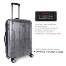 9687be8f21f67 NEWCOM 100% PC podróży bagażu twarda skorupa walizka zarówno dla osób w  podróży służbowej,