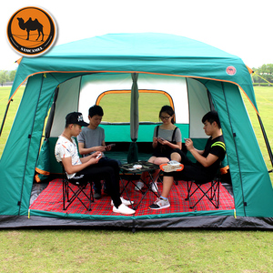 Image 3 - Samcamel 8 12 Person One Hall Two Bedroom Double Layer Waterproof Camping Tent Large Gazebo Carpas De Camping