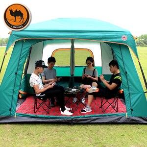 Image 3 - Samcamel 8 12 osoba jedna sala dwie sypialnie dwuwarstwowy namiot wodoodporny duży altanka Carpas De Camping