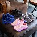 Children shoes with light 2017 весной новый СВЕТОДИОДНЫЙ световой ночник флэш досуг удобные мужчины и женщины ребенок спортивная shoes