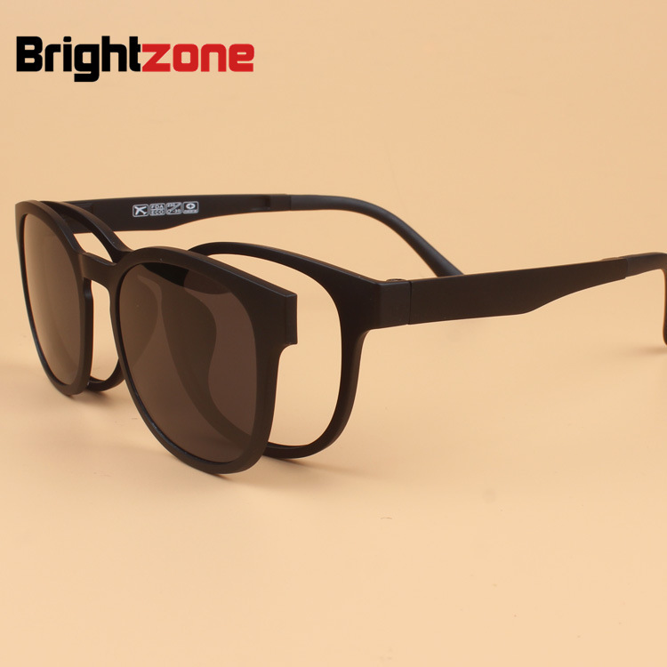 5cbe42d17ca Fashion Light Ultem PEI Myopia Glasses Frame with magnet Sunglasses Clip  Retro Tungsten Set Mirror can Fill Prescription Lenses. В избранное.  gallery image