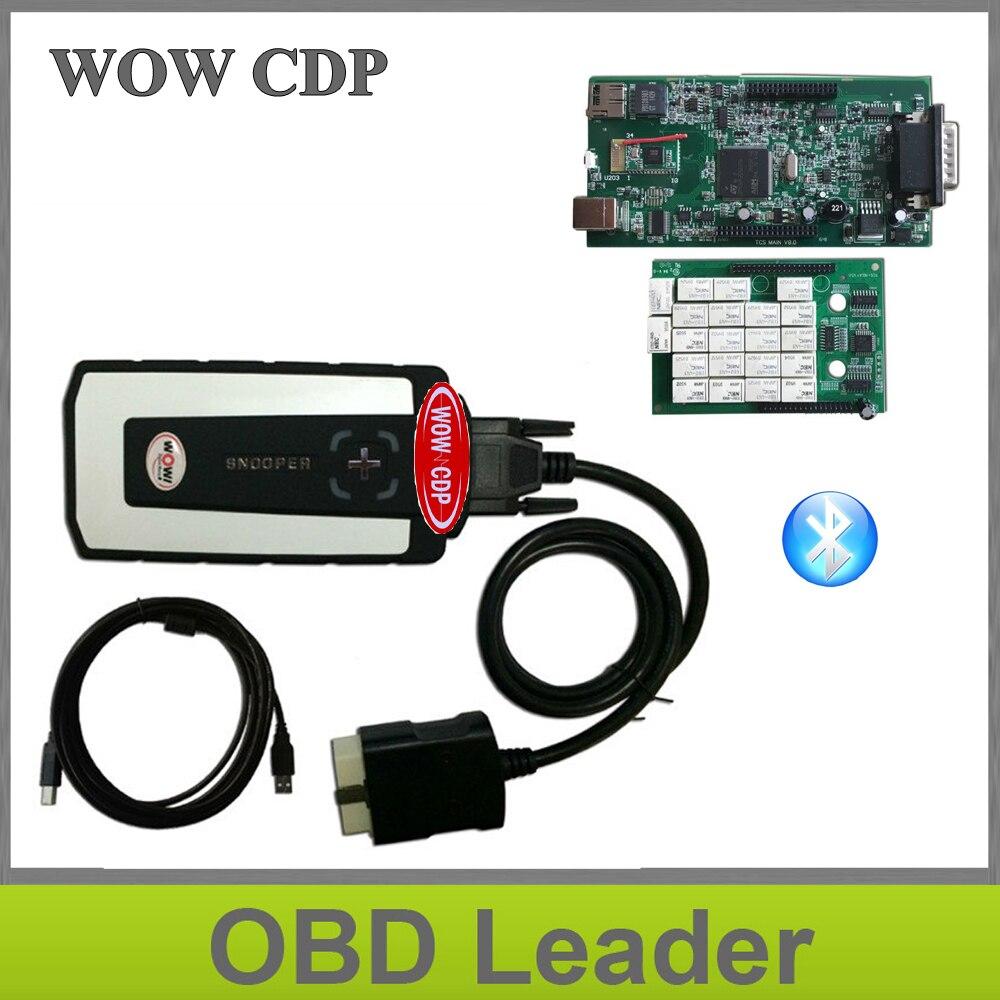 Цена за 2017 WOW snooper с новый внешний вид 2014 R3/2015 R3 Keygen CDP Pro Plus с Bluetooth зеленый pcb для автомобили и грузовиков 3in1