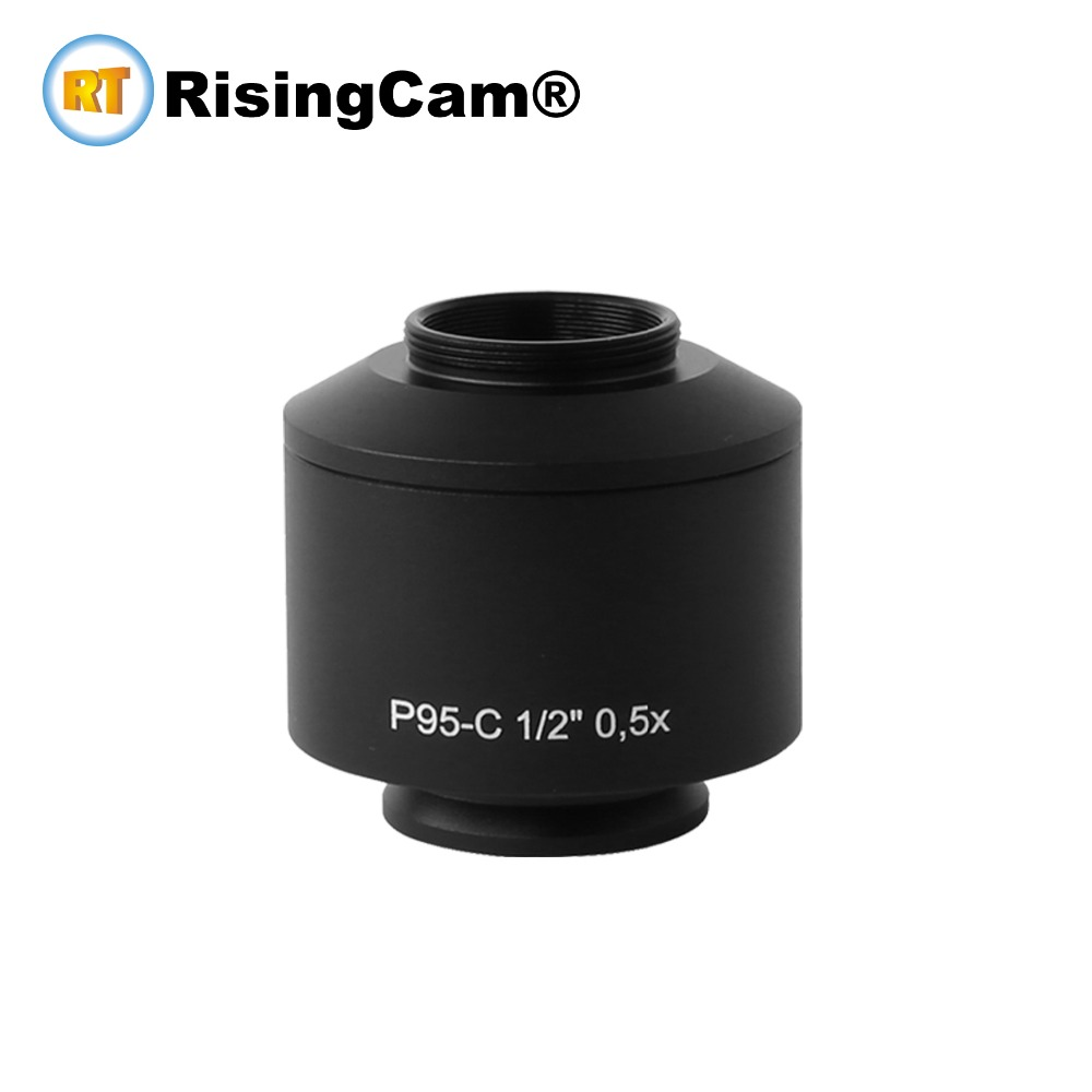 0 5X standard Microscope camera C mount adapter for Zeiss trinocular microscope