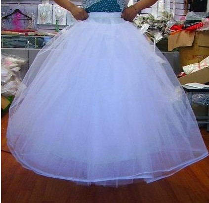 Tulle Ball Gowns NO Hoop 4 layers Wedding Gown Dress Petticoat Underskirt Bridal Crinoline Wedding Accessories Free Shipping