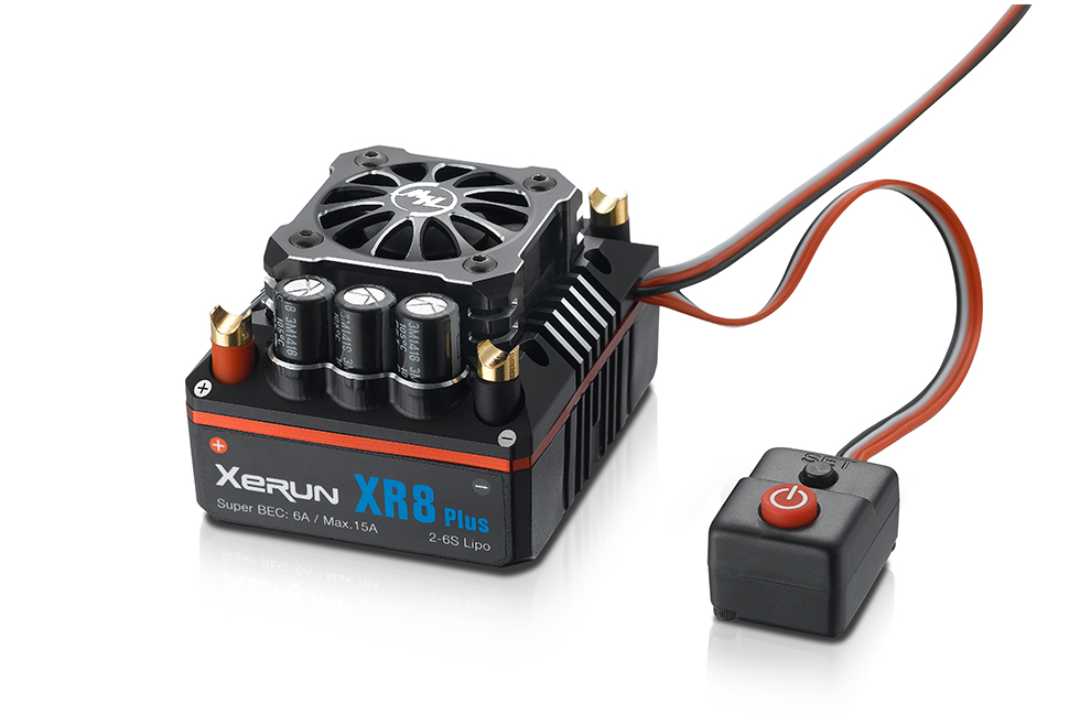 Hobbywing XERUN XR8 Plus 150A Sensored Brushless ESC for 1/8 RC Car Competition xerun xr 8 plus 150a esc 4274 sd g2 inductive brushless motor electric motor suit for rc car