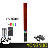 YONGNUO YN360 III YN360III Handheld LED Video Light Touch Adjusting Bi colo 3200k to 5500k RGB Color Temperature with Remote