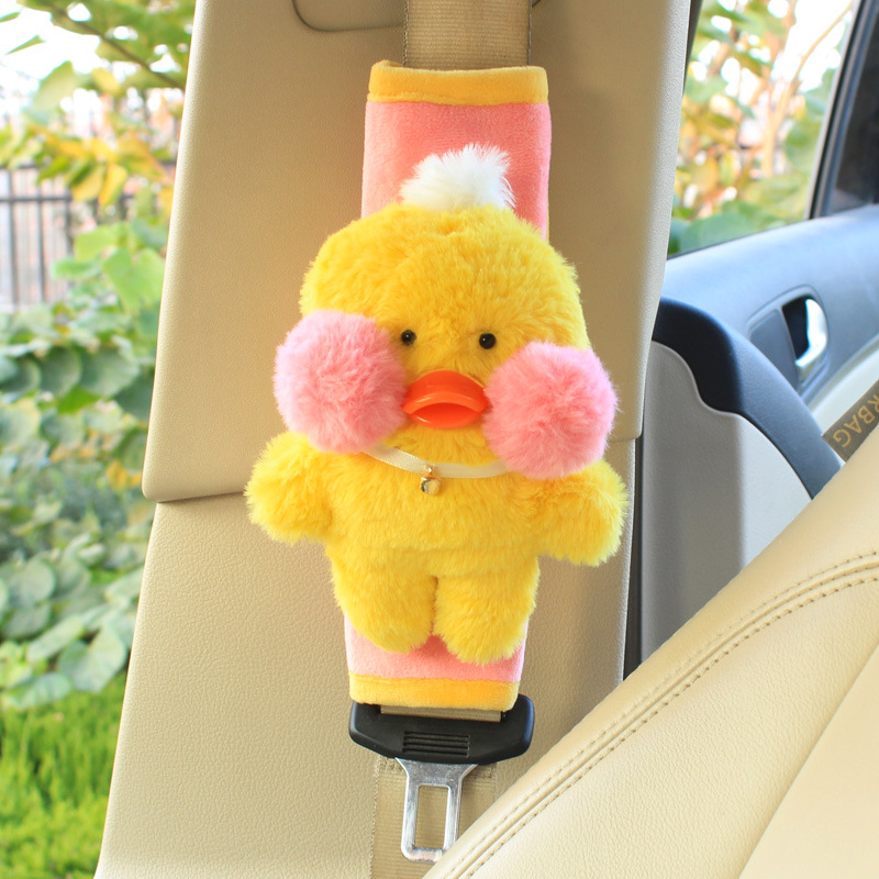 Cute Car Seat Belts Safety Universal Kids Seat Belts Shoulder Pad Cover For Children Super Soft Flannelette Shoulder Covers