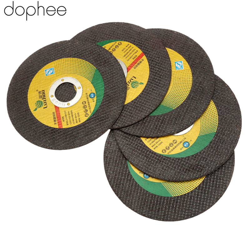 dophee 125mm Dremel Accesories Cutting Disc Ultra-thin Resin Grinding Wheel Cut Off Cutter Abrasive Disc for Dremel Tool 5PCS