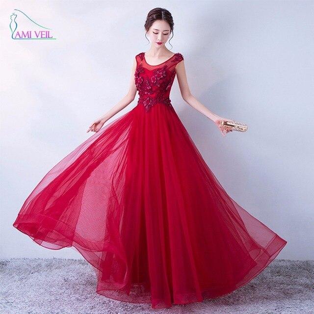 Wine Red Beading Flowers Lace Long Elegant Evening Dresses Formal Gown Prom  Dresses robe De soiree Vestido De Festa longo GQ835 c647ebb5a015