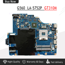LA-5752P для lenovo G560 Z560 Материнская плата ноутбука NIWE2 LA-5752P Rev: 1,0 с GT310M видео карты DDR3