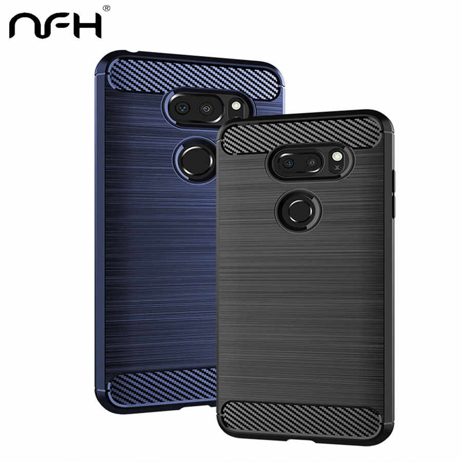 Carbon Fiber Phone Case For LG G7 G8 ThinQ V30s Soft Silicon Protective Shockproof Cover For LG G6 G5 G 6 K10 K30 K40 V30 Coque