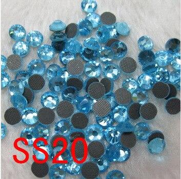 1440pcs / bag ,ss20 (4.6-4.8mm)aquamarine,crystal dmc hot fix glass rhinestone motif design rhinestones free shipping