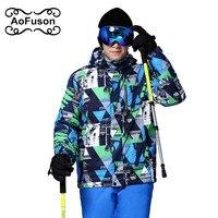 2016 New Brand Ski Jacket Men Waterproof Thermal Winter Climbing Snow Jacket Coat For Outdoor Mountain