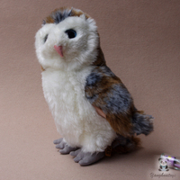 Lovely Owl Doll Toy Real Life Plush Animals Home Decoration Toys Children Birthday Present Store