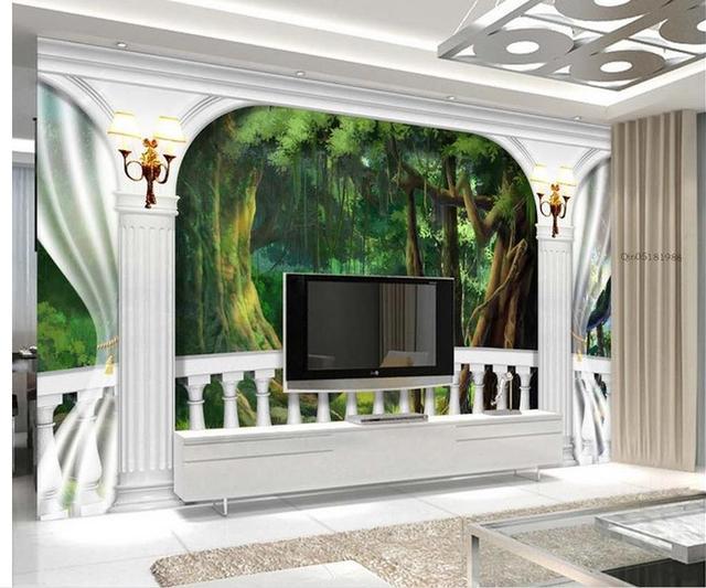 3d Tapete Für Zimmer Römischen Säule Balkon TV Wandbild 3d Wallpaper Moderne  Wohnzimmer Tapeten