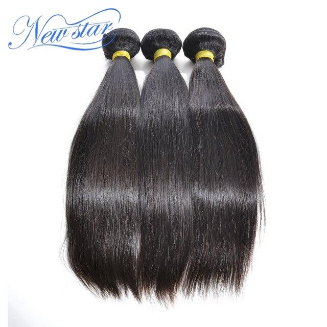 Best new star 3 шт./лот индийская девственница выдвижение человеческих волос 100% необработанных уток машины человеческие волосы соткать прямо естественный цвет