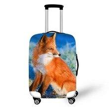 Diseño de zorro accesorios de viaje maleta cubiertas protectoras 18-32 pulgadas equipaje elástico cubierta de polvo funda estirable