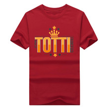 2017 the king of the wolf Francesco Totti T-Shirt 100% cotton T Shirts 40 years
