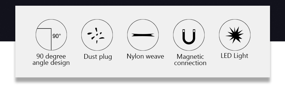 NOHON 90 Degree Magnetic Cable USB Type C Charging For SamSung S8 Plus Magnet Fast Charge For Xiaomi 5 6 Huawei P9 Charger Cable (4)