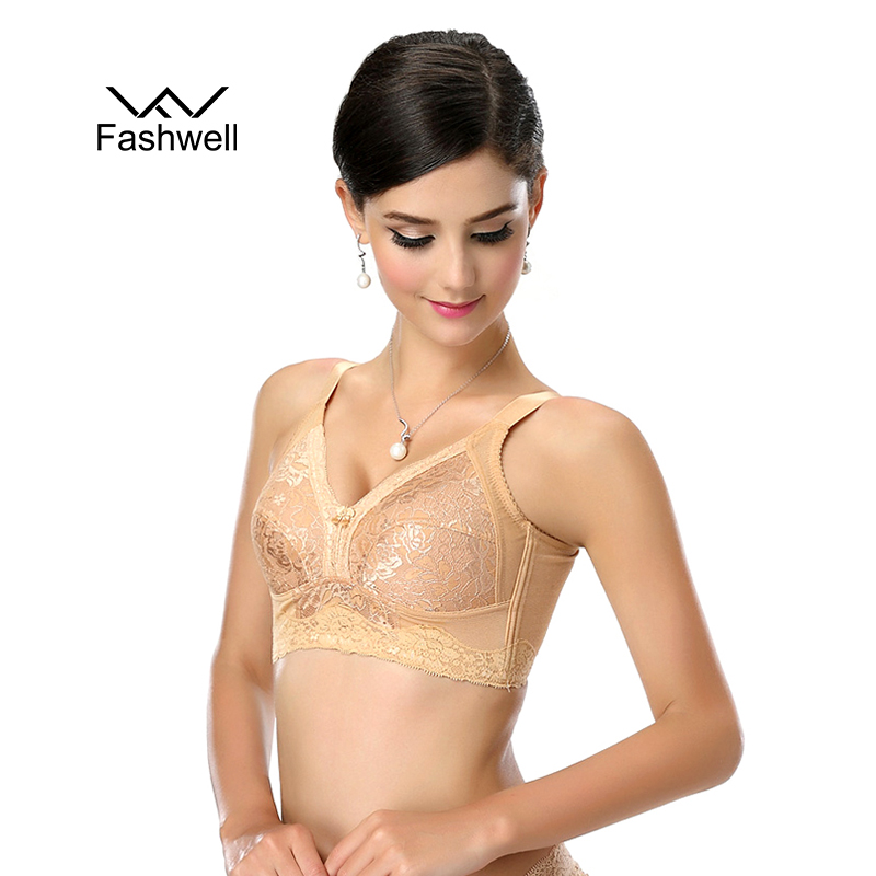 New Fashion Full Cup Cotton Bras for Women Plus Size Wireless Women Lace Bralette Thin Cup Bras