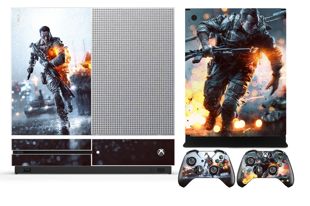 Battlefield 4 259 vinyl skin sticker protector for microsoft xbox one s and 2 controller skins stickers in stickers from consumer electronics on